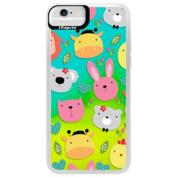 Neonové pouzdro Blue iSaprio - Animals 01 - iPhone 6/6S
