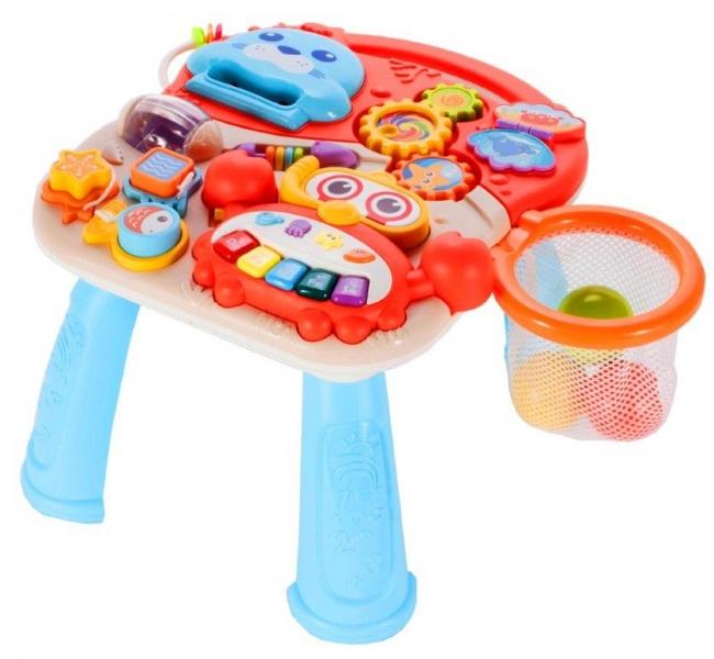 Tulimi Dětské interaktivní chodítko a stoleček Walker 2v1 - s příslušenstvím , barevné