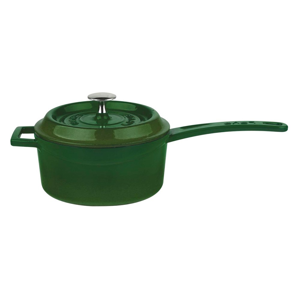 Litinový rendlík 16 cm - zelený