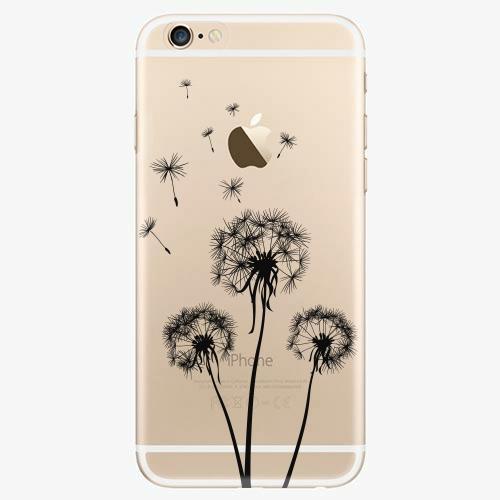 Silikonové pouzdro iSaprio - Three Dandelions - black - iPhone 6/6S