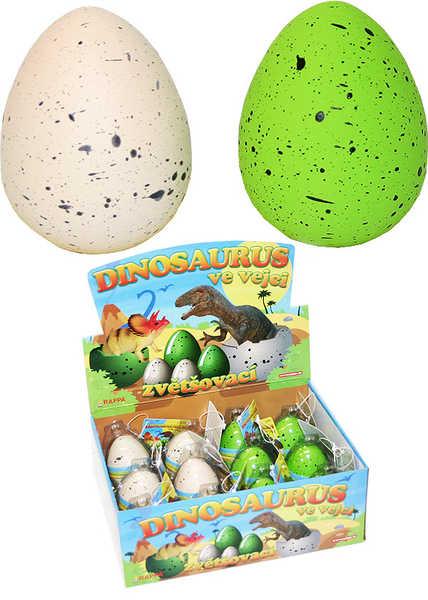 Dinosaurus ve vajíčku líhnoucí se a rostoucí ve vodě - strakaté