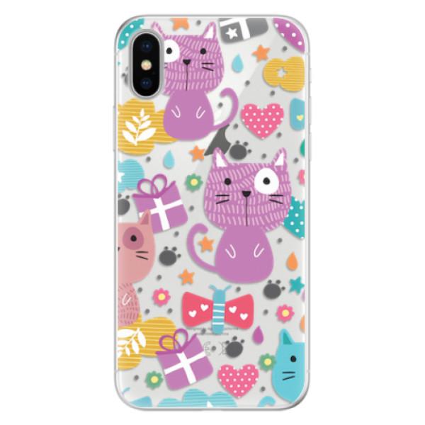 Silikonové pouzdro iSaprio - Cat pattern 01 - iPhone X