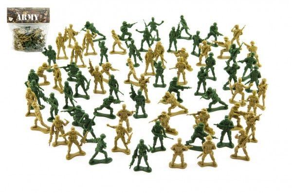 Sada vojáci 2 barvy plast CZ design na kartě 18x19,5cm