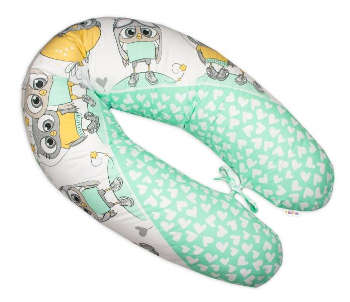 baby-nellys-kojici-polstar-relaxacni-poduska-multi-cute-owls-zeleny