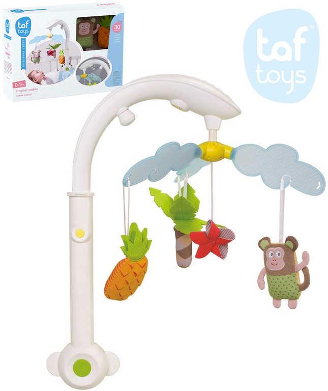 TAF TOYS Baby kolotoč s opičkou Marco s melodiemi na baterie Světlo Zvuk pro miminko