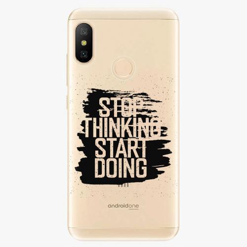 Silikonové pouzdro iSaprio - Start Doing - black - Xiaomi Mi A2 Lite