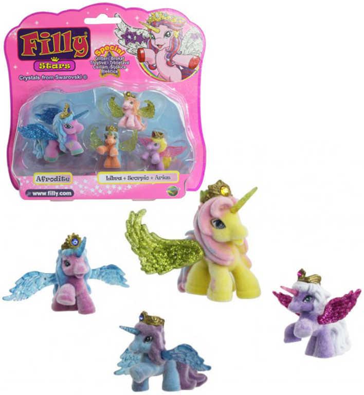 EP Line Filly Stars Glitter rodinka set 4 koníci + 4 karty a letáček v sáčku