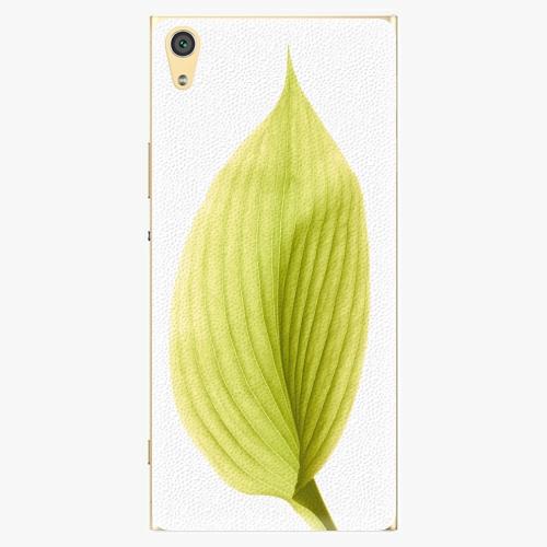 Plastový kryt iSaprio - Green Leaf - Sony Xperia XA1 Ultra