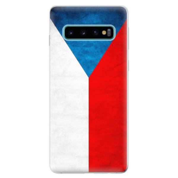 Odolné silikonové pouzdro iSaprio - Czech Flag - Samsung Galaxy S10