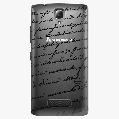 Plastový kryt iSaprio - Handwiting 01 - black - Lenovo A2010