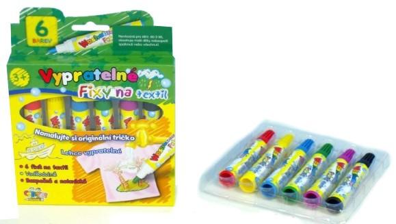 Fixy na textil VYPRATELNÉ Výtvarné a kreativní hračky