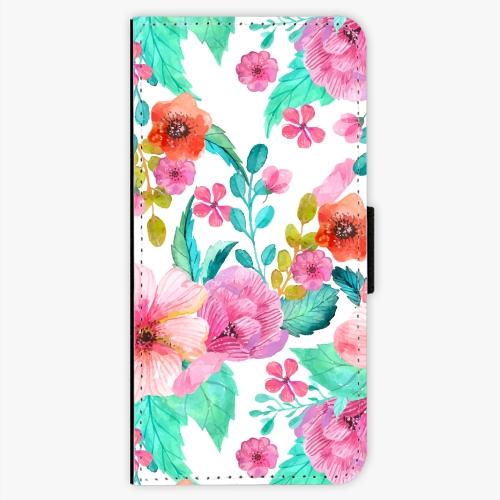 Flipové pouzdro iSaprio - Flower Pattern 01 - Sony Xperia XA