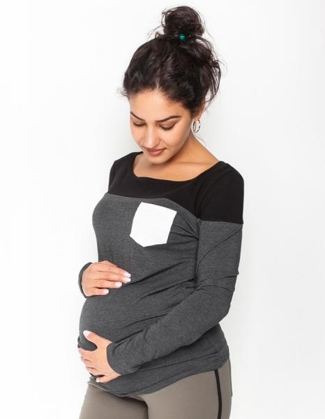 Be MaaMaa Těhotenské triko/halenka dlouhý rukáv
