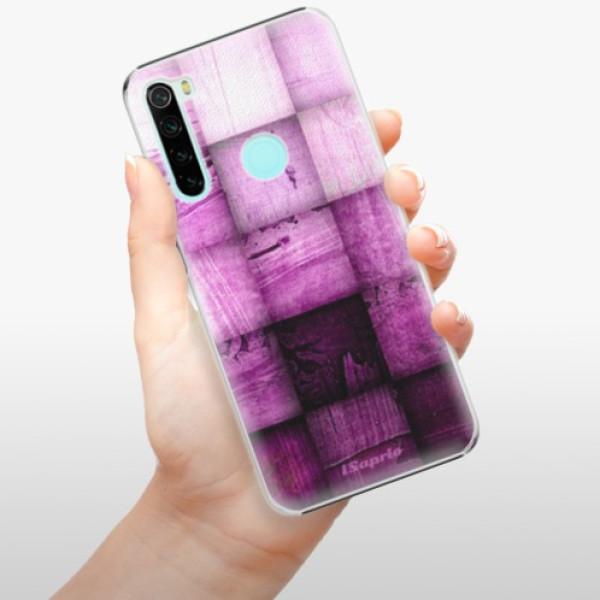Plastové pouzdro iSaprio - Purple Squares - Xiaomi Redmi Note 8