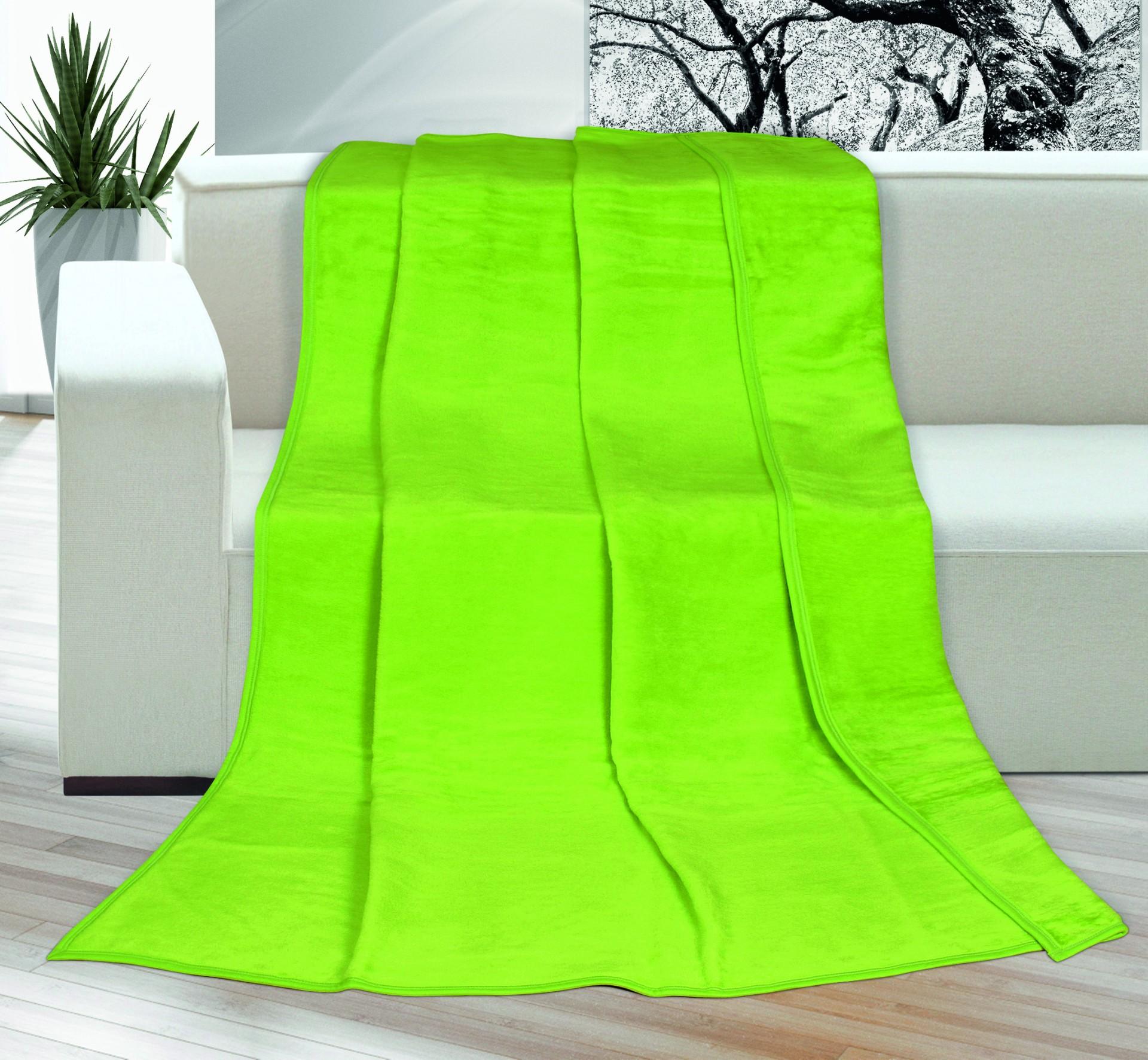 Deka Kira PLUS jednolůžko 150x200cm světle zelená