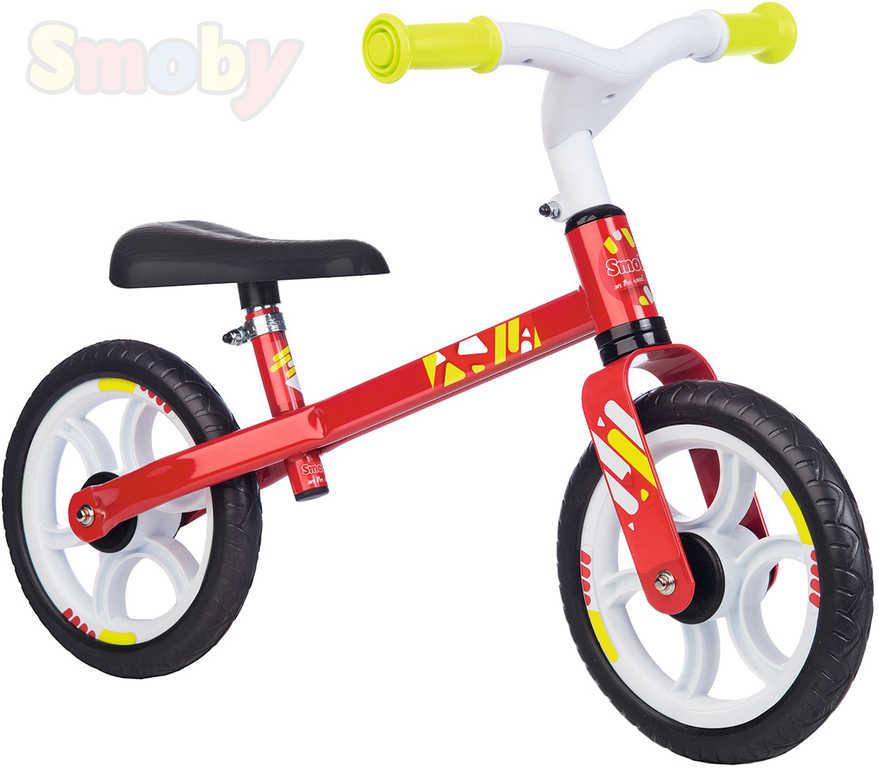 SMOBY Baby cykloodrážedlo červené odstrkovadlo 76x48x39cm kovová konstrukce