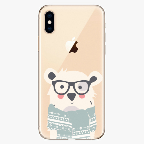 Silikonové pouzdro iSaprio - Bear with Scarf - iPhone XS