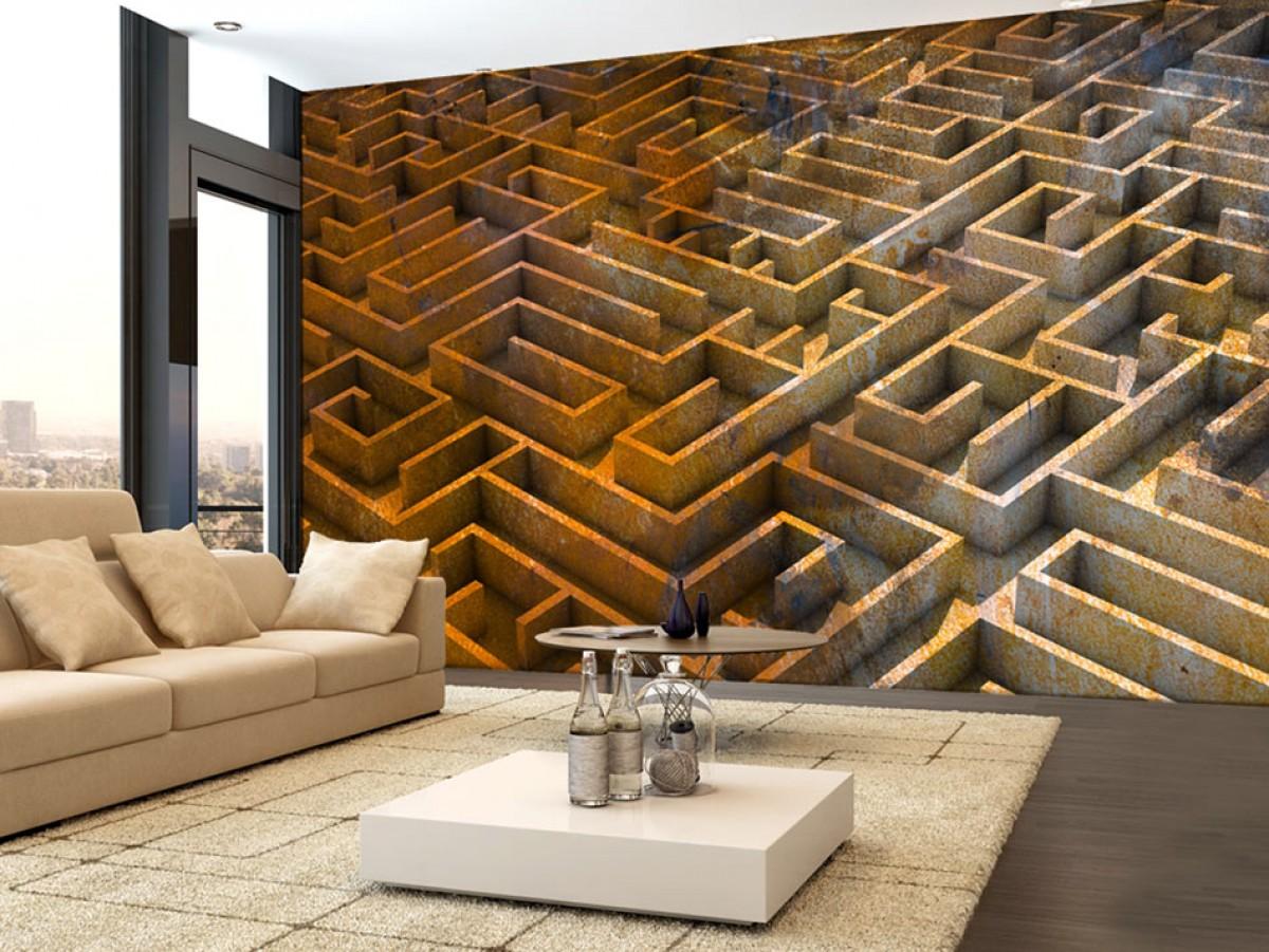 3D tapeta labyrint
