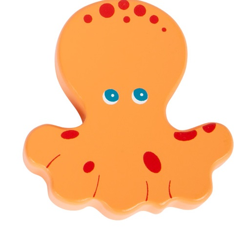 Small Foot Chrastítka mořská zvířátka 1 ks oranžová