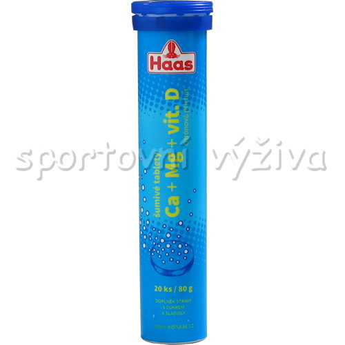 Haas Ca + Mg + vitamin D 20 šumivých tablet