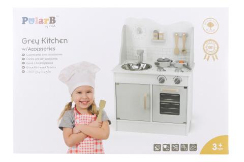 Dřevěná kuchyňka šedá