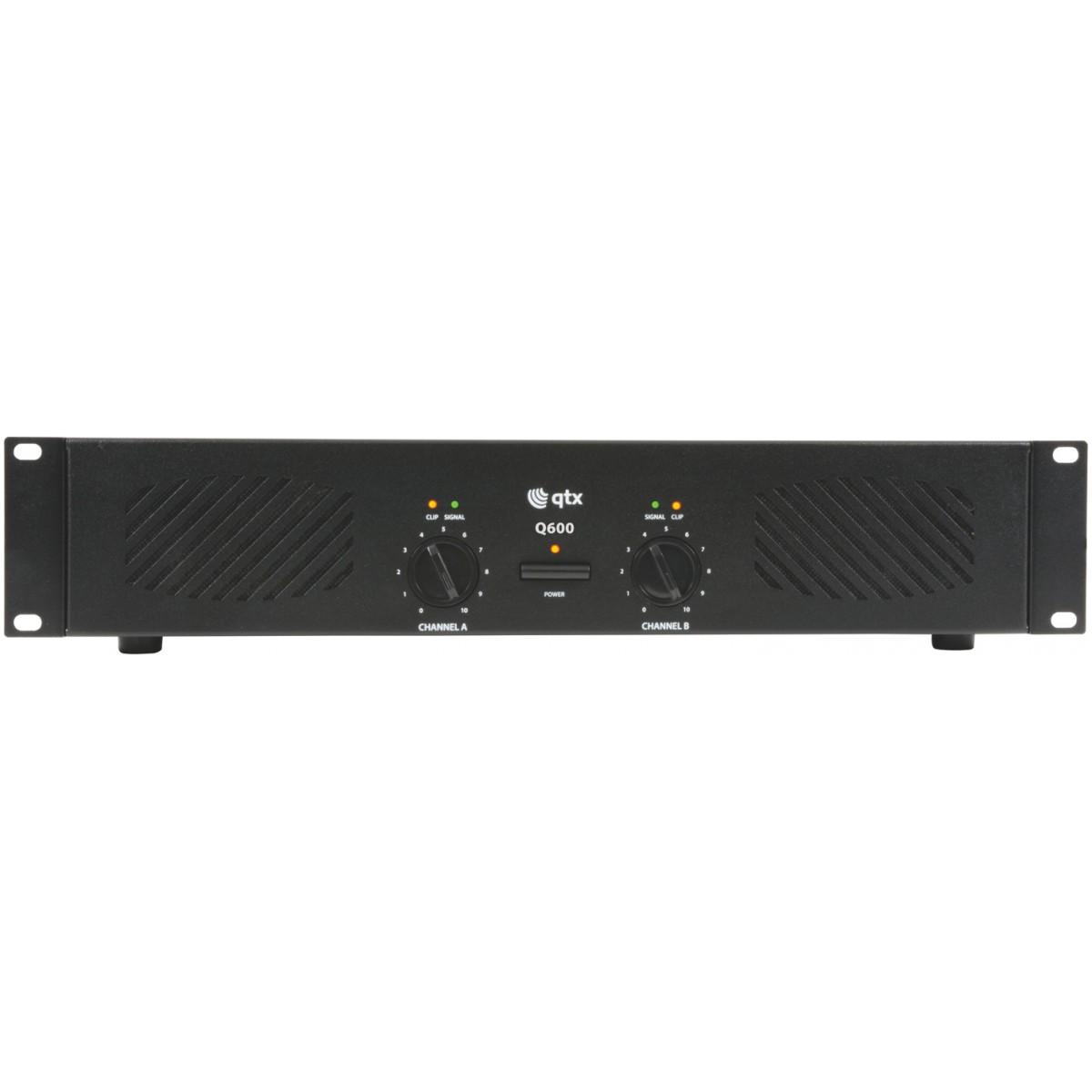 QTX Q-600, zesilovač 2x 300W