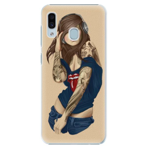 Plastové pouzdro iSaprio - Girl 03 - Samsung Galaxy A20