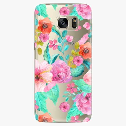 Silikonové pouzdro iSaprio - Flower Pattern 01 - Samsung Galaxy S7 Edge