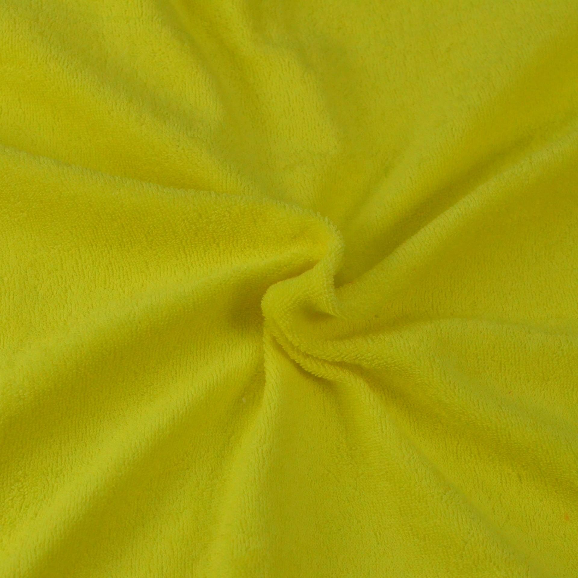 Froté prostěradlo citron, Výběr rozměru - 90x200cm