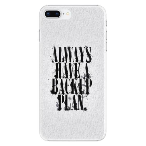 Plastové pouzdro iSaprio - Backup Plan - iPhone 8 Plus