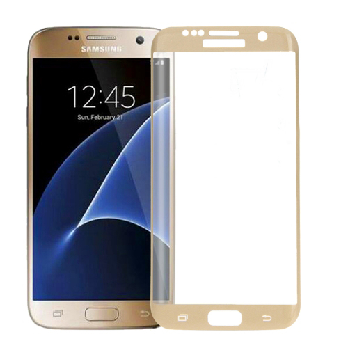 Tvrzené 3D sklo Haweel pro Samsung Galaxy S7 Edge zlaté