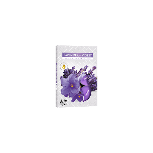 Bispol Levandule s fialkou vonné čajové svíčky 6ks