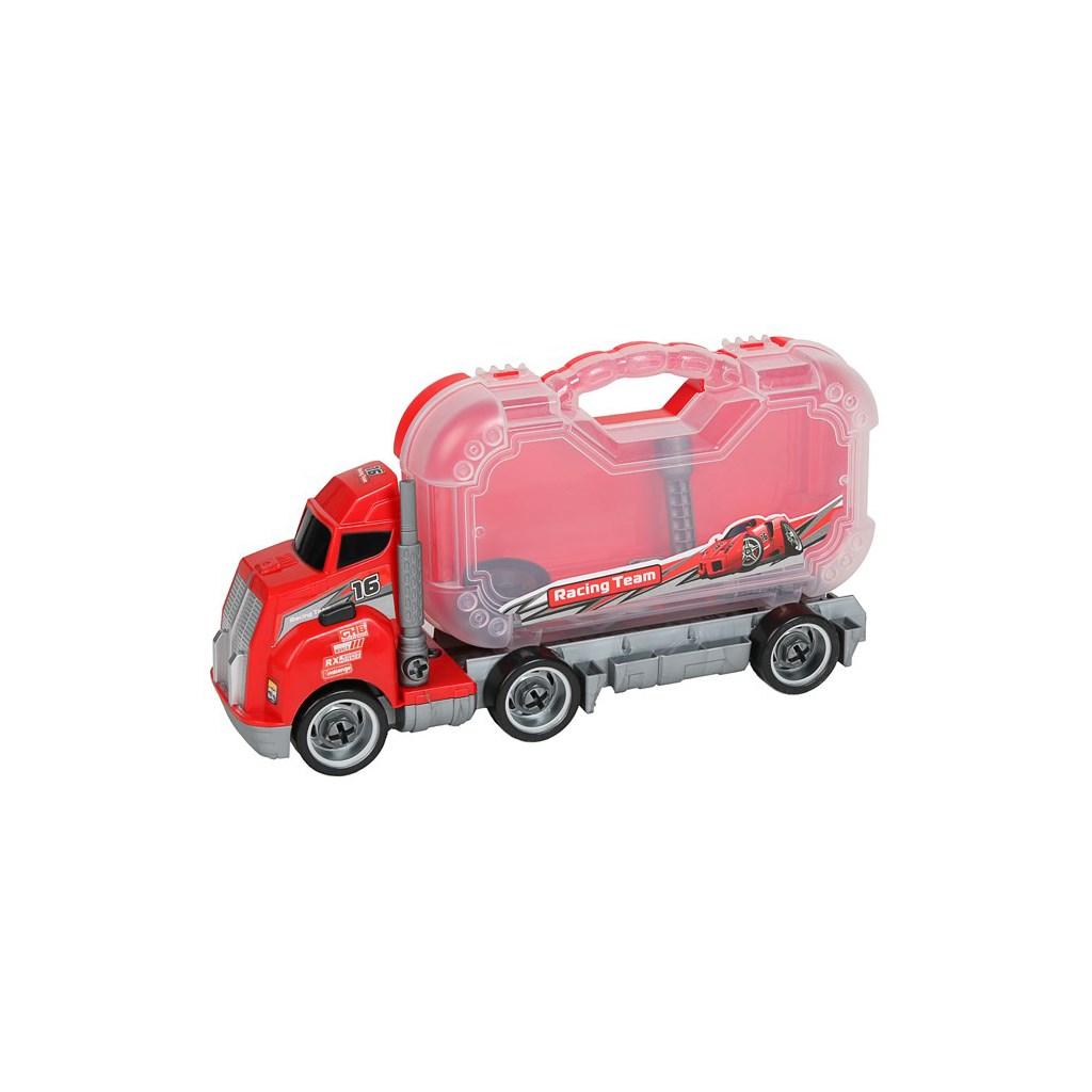 Dětské nákladní auto s nářadím Bayo 10ks - červená