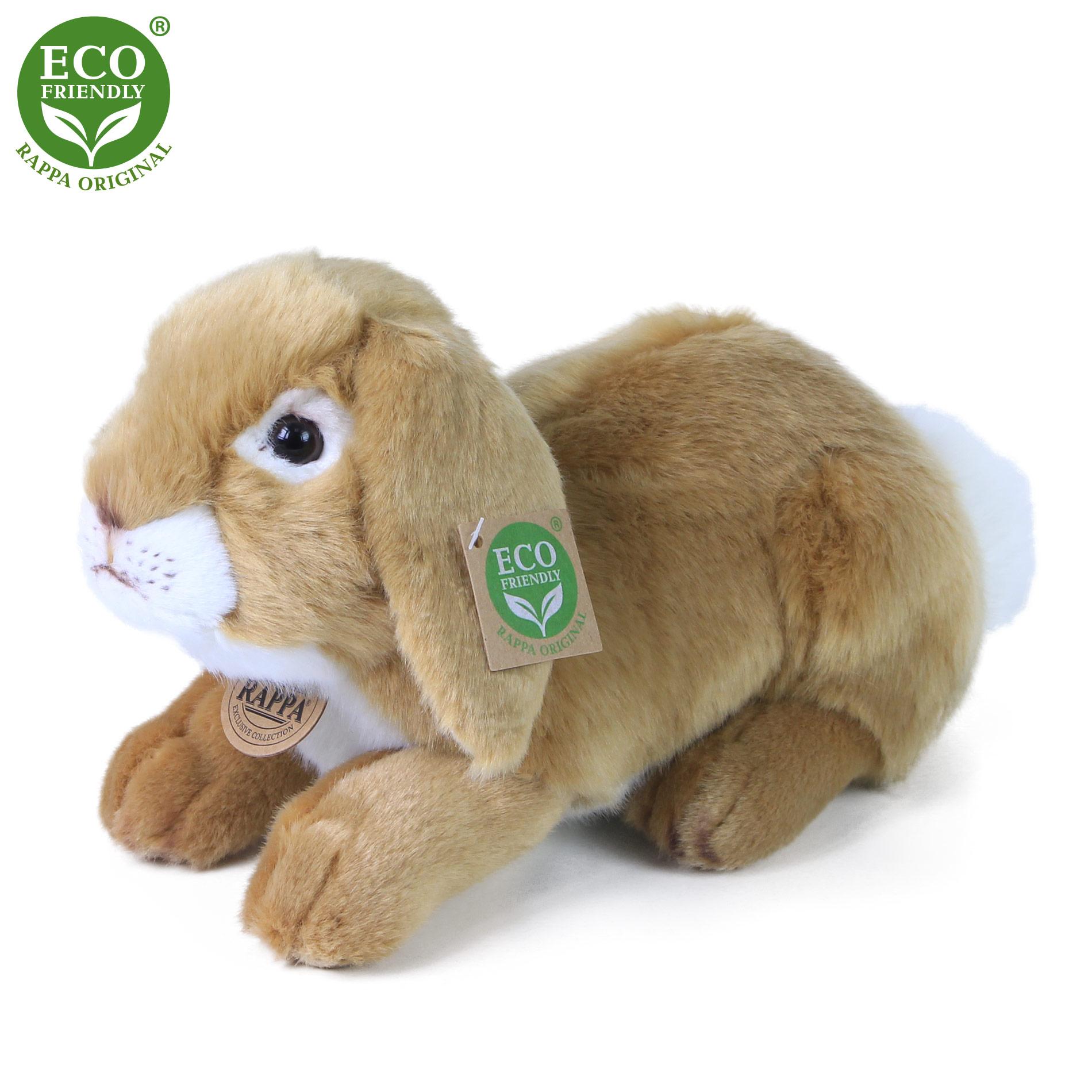 Plyšový králík ležící 30 cm ECO-FRIENDLY