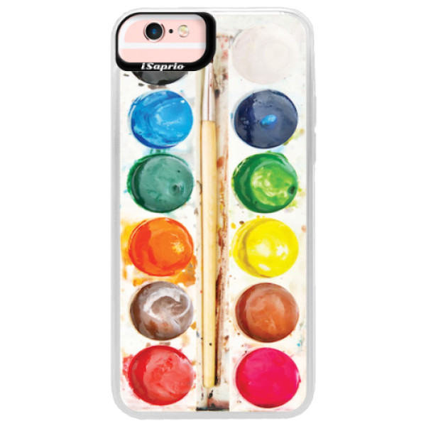 Neonové pouzdro Pink iSaprio - Watercolors - iPhone 6 Plus/6S Plus