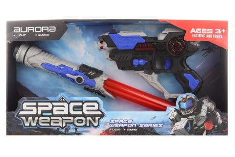 Vesmírná sada pistole a meč na baterie