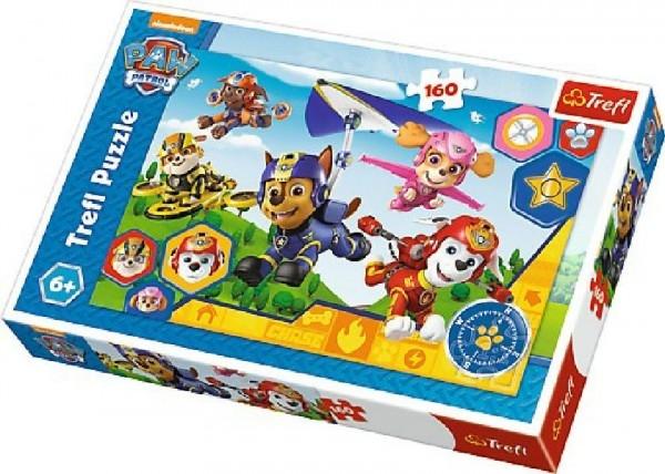 Puzzle Tlapková Patrola/Paw Patrol 41x27,5cm 160 dílků v krabici 29x19x4cm