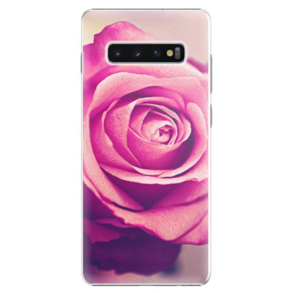 Plastové pouzdro iSaprio - Pink Rose - Samsung Galaxy S10+