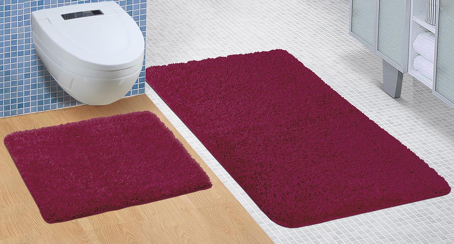 Koupelnová sada předložek Micro 60x100+60x50cm bordó