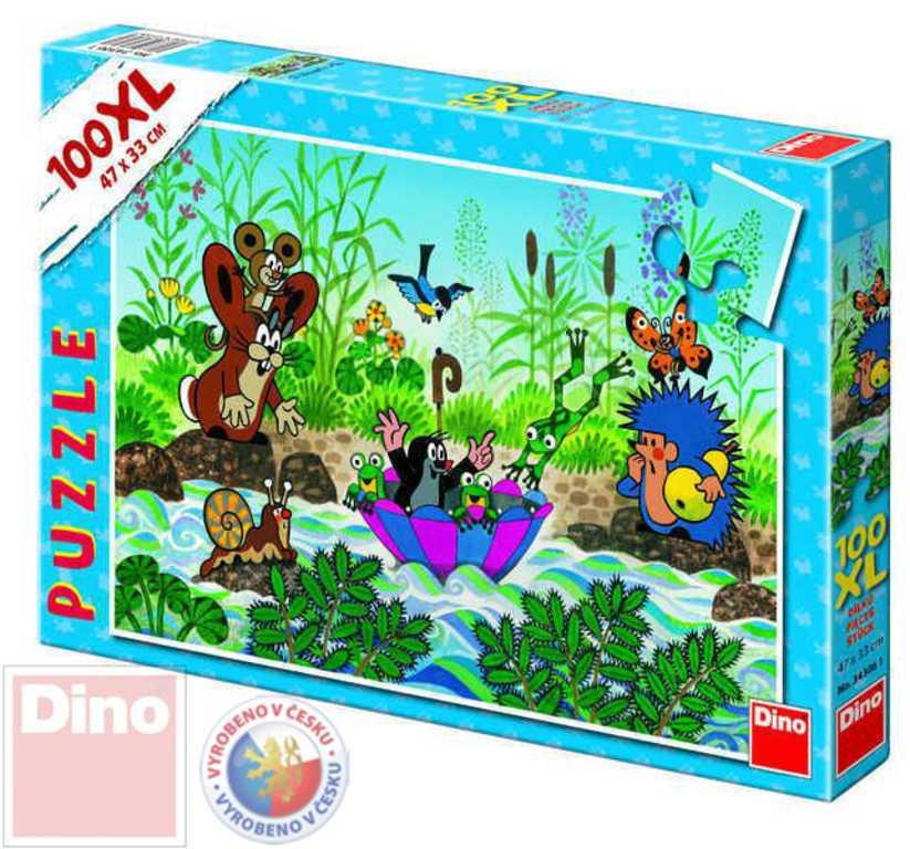 DINO Puzzle 100d XL Krtek (krteček) plave