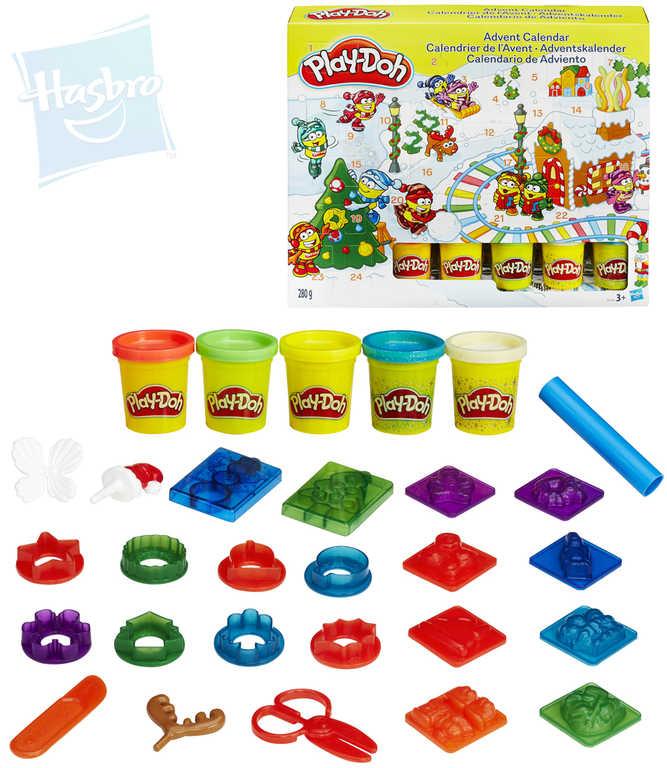 HASBRO PLAY-DOH Adventní kalendář kreativní set modelína s nástroji