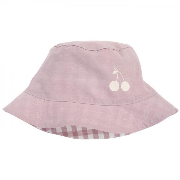 Pinokio Letní, jarní klobouček Sweet Cherrry - lila - 48/52 čepičky obvod