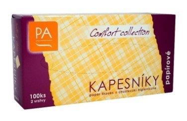 Papírové kosmetícké kapesníčky box 2 vrstvé 100ks