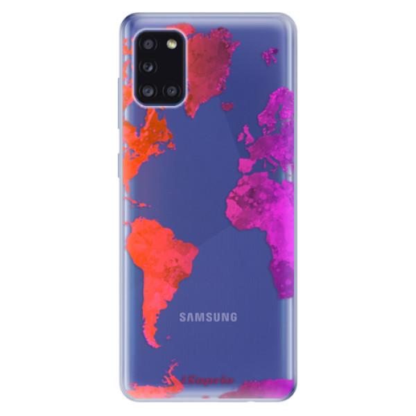 Odolné silikonové pouzdro iSaprio - Warm Map - Samsung Galaxy A31