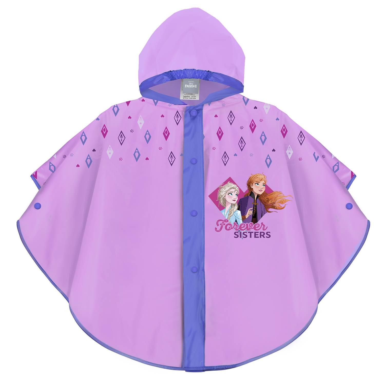 Dívčí pláštěnka pončo Perletti Frozen - růžová