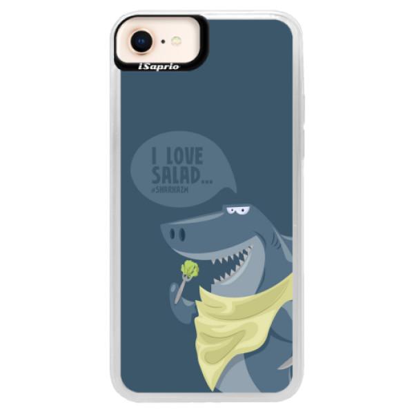 Neonové pouzdro Pink iSaprio - Love Salad - iPhone 8