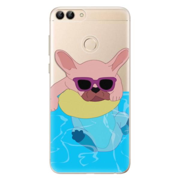 Odolné silikonové pouzdro iSaprio - Swimming Dog - Huawei P Smart