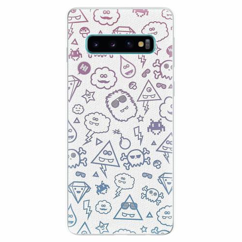 Silikonové pouzdro iSaprio - Funny Clouds - Samsung Galaxy S10