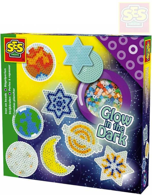 SES CREATIVE Korálky zažehlovací hvězdy svítící ve tmě