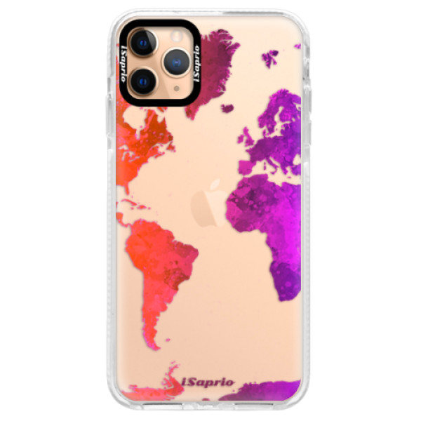 Silikonové pouzdro Bumper iSaprio - Warm Map - iPhone 11 Pro Max